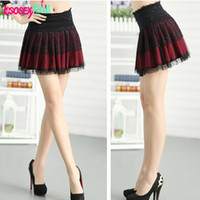 Polyester Above Knee Women Fashion brand women clothes 2014 new spring and summer skirt tutu skirts casual ladies pleated lace skirt sexy mini party skirts