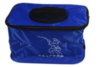 Wholesale 1 Tackle fold Bag pockets Fishing Tackle Bags Fishing Bag fly lure Waterproof fabrics pockets fishing equipment S cm
