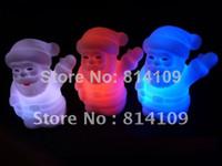 Wholesale Hot Christmas Items Christmas gifts LED Santa Claus Colorful Night Light Santa Claus
