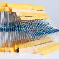 400pcs 1 / 4w Resistencia Metal Film Resistor 20 tipos Cada 20 1%