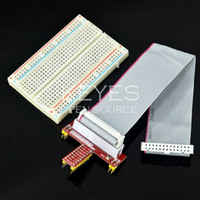 Cheap free shipping! Raspberry pie GPIO expansion DIY kit (cable + -quality 400-hole breadboard + GPIO adapter plate)