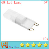 10pcs lot Dimmable MOQ Mini G9 110V- 220V 5W LED Ceramic Crys...