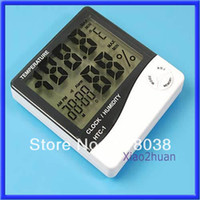 Kitchen Infrared Thermometer 1213138 Free shipping Weather Station Thermometer Hygrometer Desk Alarm Clock