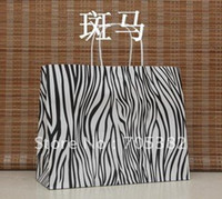 Paper Recyclable ss-198 Big Size Zebra Shopping bag, 33X26X12CM,Janpan technical, Kraft paper bags with handle, Wholesale price (SS-198)