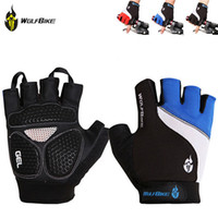 finger bike - Non slip Short Gloves Road MTB Motorcycle Cycling Bike Bicycle Racing Riding Breathable Half Finger Gloves