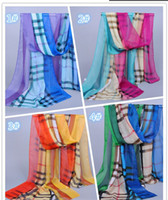 Wholesale New Fashion hot Eight squares corlorful Chiffon scarves hot sell long scarves