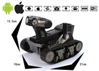 Wholesale Robot WALL E rc tank HD video Camera wifi Spy Tank for iOS Android iphone Photographs Monitor Eavesdropping remote control tank407