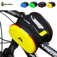 Wholesale Bike Phone Bag colors Men Women Sports Cycling Bicycle Accessories Front Frame Tube Pannier Double Twins Bag Pack BCB