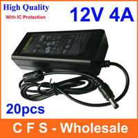 12V 4A Power Supply 12v ac dc 4a adapter - High Quality AC DC V A Power Supply Adapter V W Charger For LCD Monitor