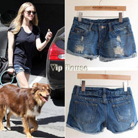 Jeans Women Bootcut high Qiality! 2014 New Fashion Retro casual Women Ripped Hole Jeans Shorts Ladies Denim Jeans b4 SV003062
