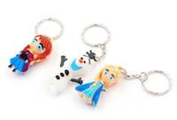 Wholesale 3D Frozen Olaf Anna Elsa pvc Keychain High quality Cute toys for children