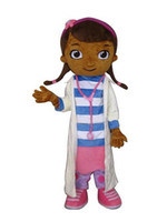 Mascot Costumes Women Free Size LJP709 Hot Sale Dottie McStuffins Doc McStuffins Mascot Costume Adult Size Classic Party Costumes Fancy Dress Suit Free Shipping