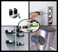 Metal wine rack stainless steel - 60Pcs theroom wall stainless steel wine rack barware bar theroom bottle theroom fashion T349