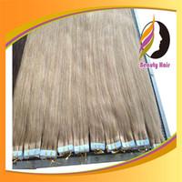 Brazilian Hair glue in hair extensions - 18 inch GLUE SKIN PU TAPE IN color hair extensions Brazilian Remy Human g pc gram