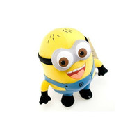 Wholesale 18CM Despicable ME Movie Cartoon Plush Toy Inch Minion Stuffed Toys Children Dolls Little Yellow Man With D Eyes