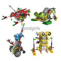Wholesale Loz Robot Assembled Building Blocks A0011 Educational DIY Bricks Toys Electric Motor Plastic Robot Christmas Gift