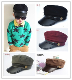 Wholesale Korean New Summer Children Boys Girls Peak Caps Kids Sun Protection Fashion Army Hats Childs Student Baseball Cap H1069