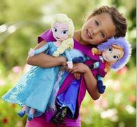 Wholesale New Arrival Cartoon Forzen Baby Kids Stuffed Plush Toys Elsa And Anna Princess Dolls cm Inch Big Size Children Frozen Dolls Toys GX610