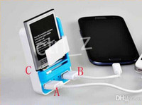 Dock Chargers plug-in - 3 IN Universal port USB Battery dock charger with US plug Wall Travel Charger for samsung s4 s5 s htc m8 LG G3