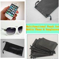 For Apple iPhone anti dust bag - Anti Dust Black Cellphone Pouch Mobile Phone Bag For Sunglasses Glasses Mp3 Mp4 GPS Player Case Holder Soft