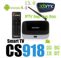 Wholesale 8Android kitkat IPTV Box Addons XBMC GOTHAM Mini TV RK3188T Quad Core GB GB PC Stick With IR Remote Controller CS918 Wifi Antenna