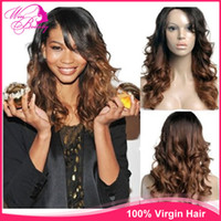Cheap Two Tone  ombre lacefront wigs Best Indian hair Body Wave ombre lacefront wigs human hair
