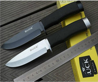fixed blade knives camping - Hot sale BUCK Hunting Knife Camping Knife Survival Knife Silver blade styles for choosing