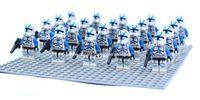 Wholesale Star Wars Blue Clone Troopers Soldier Figures Classic Toys Hobbies DIY Building Blocks Bricks Minifigures Toy