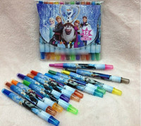 Wholesale Cartoon Frozen Children Colors Drawing Pen Rotating crayons Painting Suppliers Handy Coloring Gift For Children M0252