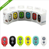 Wholesale Wireless Bluetooth Remote Control Self Timer Camera Shutter For iPhone6 S S Samsung galaxy s5 S4 S3 Note3 Note2 N7100 Android phone