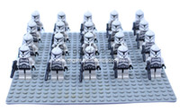 Wholesale Star Wars Gray Clone Troopers Soldier Figures Classic Toys Model DIY Building Blocks Sets Bricks Minifigures Toy