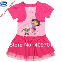 Wholesale NOVA brand new baby girl tutu dress dora Kids summer clothing children hot sale cute princess dresses H4729