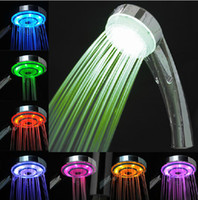 Wholesale 2014 romantic and comfortable Multiple color LED shower head streamlined LED shower bathroom shower head