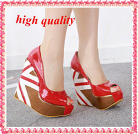 Cheap Women ladies heels Best Pumps Spring and Fall Wedge shoes