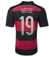 Wholesale Champion German Away Jerseys World Cup Germany GOTZE Soccer Jerseys Top Thai Quality Mens Soccer Kits Football Shirt Outdoor Jersey