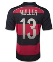 Wholesale Champion Stars Soccer Jerseys World Cup Germany MULLER Away Soccer Wears Thailand Football Shirt Hot Sale Cheap Soccer Uniform