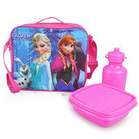 Wholesale olaf elsa anna Frozen size cm Lunch Bag kettle Cartoon Childers Lunch box lunch bag Girls Lunch