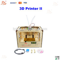 Yes LY002 220V/110v Free shipping!!3d printer II,LY printer 3d Double nozzles, DUAL extruder open source MakerBot Replicator ,printing machine