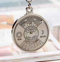 Wholesale Super Perpetual Calendar Unique Metal Key Chain Ring Years Keyring KeyChain