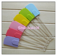Wholesale Silicone Baking Scraper Kitchen Utensil Tool Spatula Butter Mixer Cooking Cake Tool