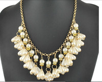 Pendant Necklaces pearl jewelry making - Hand Made Imitation Pearl Beads Statement Necklace Fashion Jewelry Necklaces