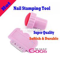UV Gel Nail Art Set Yes Set & Kit Wholesale-Professional Nail Salon Express Nail Art design high quality Soft Stamping kit include scraper and stamper konad stamp kit407