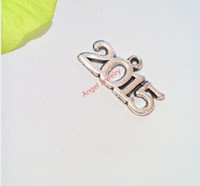 word charms - 100Pcs Tibetan Silver Plated Word Number Charms Pendants for Jewelry Making Floating Charm x12mm