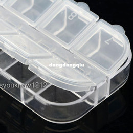 Wholesale-Free Shipping 4pcs Lot 12 Detachable Clear Plastic Divided Storage Box Beads Case For Rhinestone Nail Art Tips407