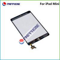 Pour iPad mini-écran tactile en verre Digitizer Assemblée avec IC avec Home Bouton autocollant Glue réparation de pièces de rechange Noir Blanc