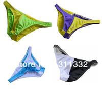 Wholesale Low waist Male Panties Patchwork colors match elastic briefs colors Men Sexy Panties Underware MS047407