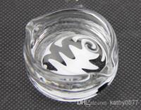 Wholesale KP06 oil ring ashtray glass ashtray dish OIL RIG DISH DABBER