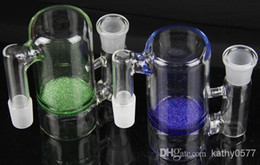 Wholesale - New glass ash catcher14.4mm or 18.8mm blue or green color frit perk