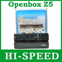 Wholesale 10pcs FEDEX FREESHIPPING Original Openbox Z5 openbox Z5 upgrade from Openbox x5 HD p dvb s2 support usb wifi youtube gmail weather