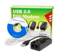 Wholesale USB Fax Modem External K Data Voice V9 ports for Win7 Ethernet Phone D2101A New Alishow